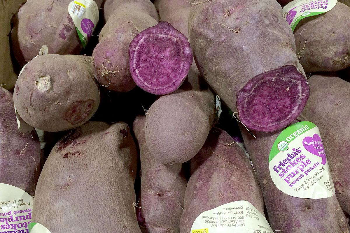 Organic Purple Sweet Potatoes