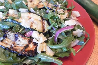 Grilled Zucchini and Arugula Salad