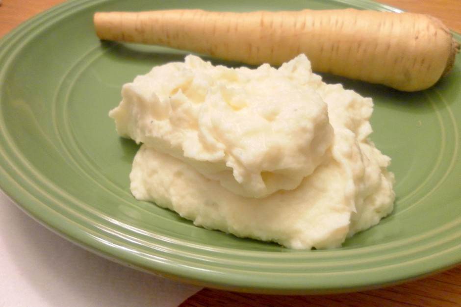 Sour Cream Mashed Parsnips & Potatoes