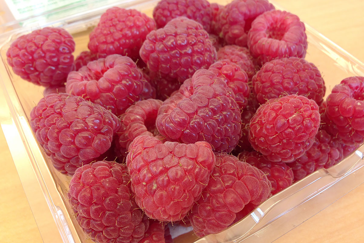 Organic Red Raspberries