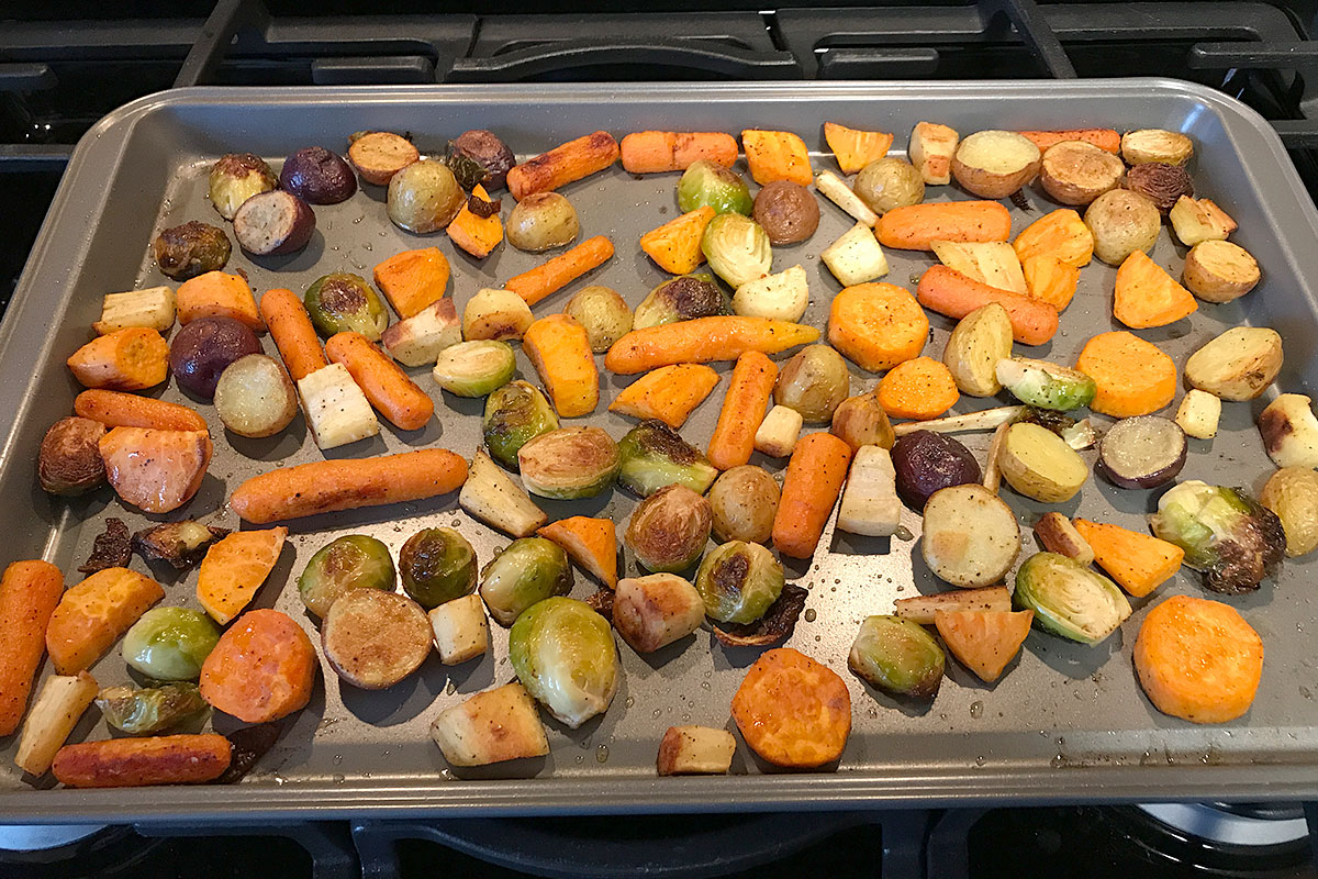 Roasted Roots & Brussels Sprouts
