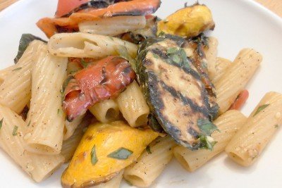 Spicy Grilled Veggies Pasta