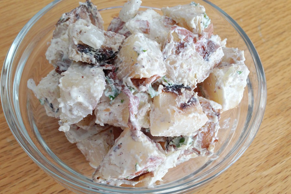 Grilled Creamy Red Potato Salad
