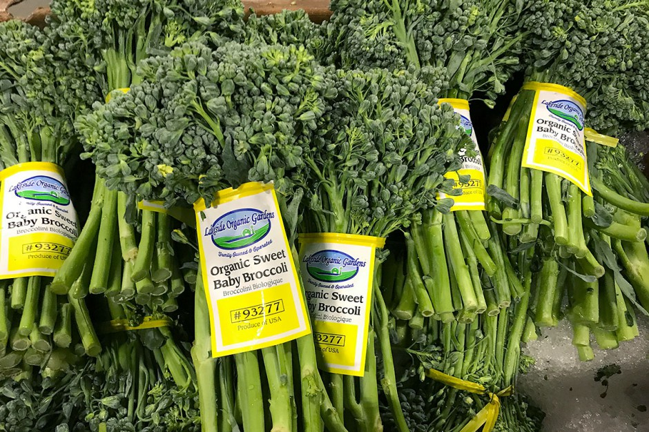 Organic Sweet Baby Broccoli