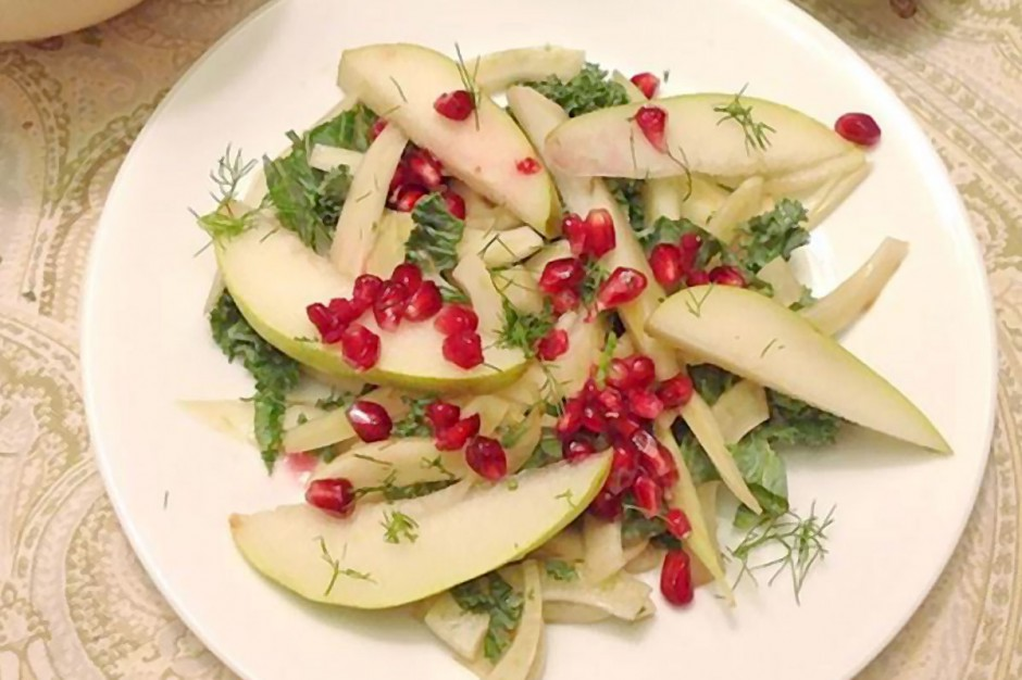 Raw Fennel & Kale Autumn Salad