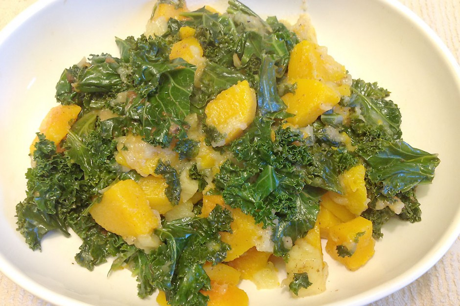 Spiced Butternut, Apples and Kale